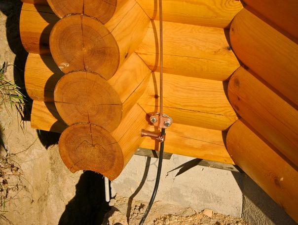 Молниезащита в деревянном доме