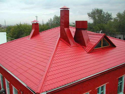 Молниезащита металлической крыши