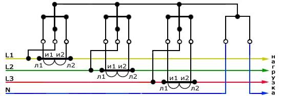 Подключение трансформатора тока