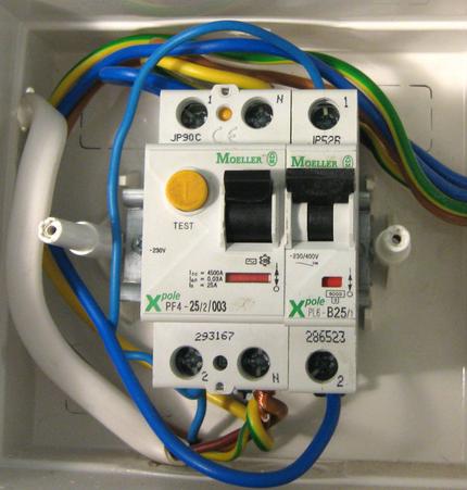 Установка устройства защитного отключения для водонагревателя