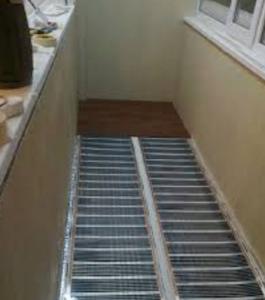 монтаж Нагревательных матов для теплого пола на балконе