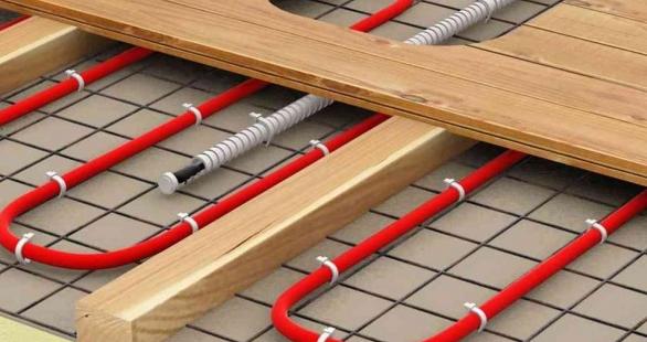 Установка кабельной системы теплого пола на балконе