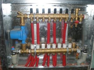 Коллекторный шкаф для водяного теплого пола