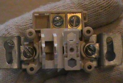 Лапки на выключателе