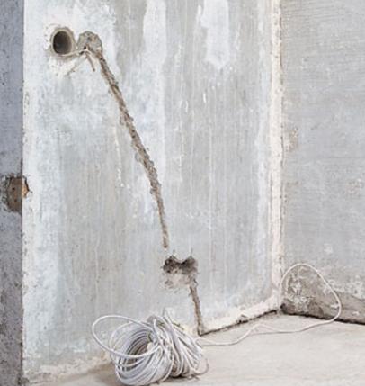 Неправильное штробление стены