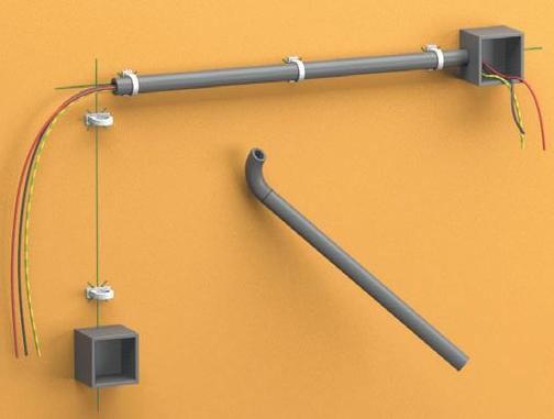 Проводка в ПВХ трубе