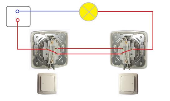 проходной выключатель как простой подключить