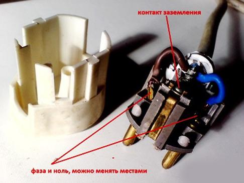 Разобранный корпус электровилки