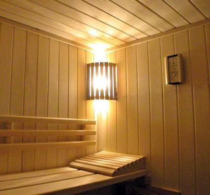 Светильники в парной комнате