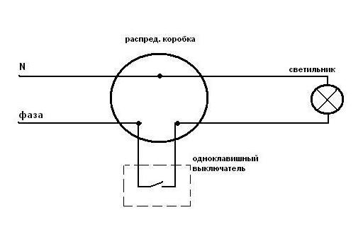Схема подключения влагозащищенного выключателя