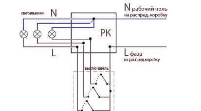 Схема трехклавишного выключателя розеткой фото 172