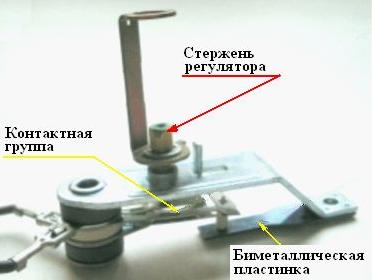 Схема проверки терморегулятора