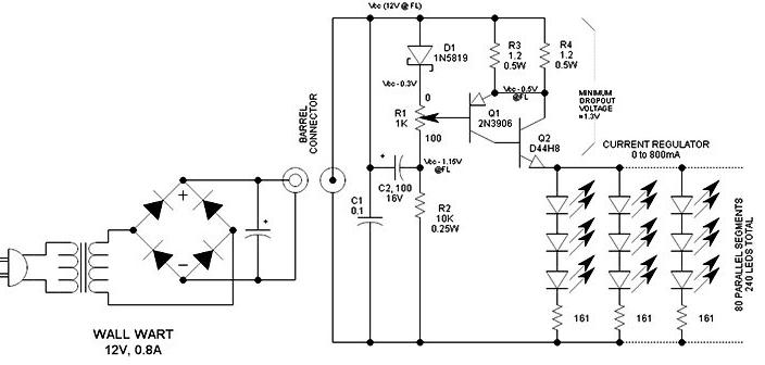 Схема светодиодного диммера