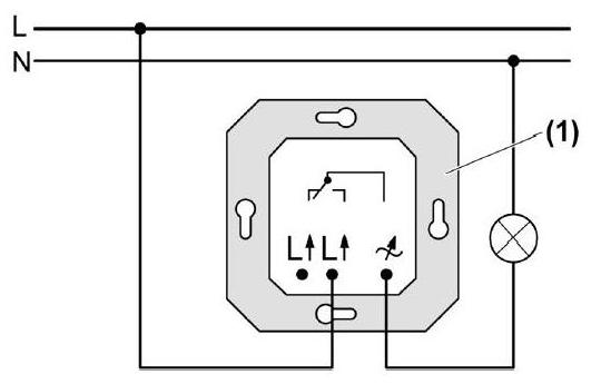 Схема соединения фазы и ноля к диммеру
