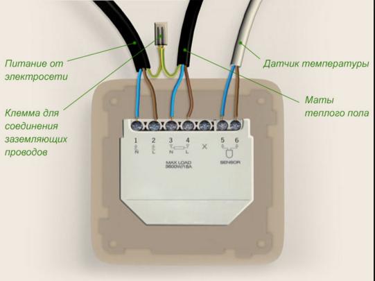 Термодатчик для теплого пола под плитку