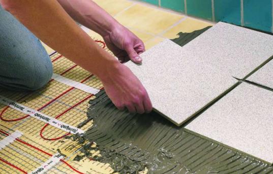 Укладка плитки на электрический пол