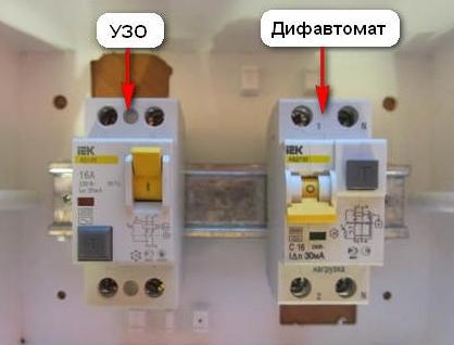 Чем отличается УЗО от дифференциального автомата