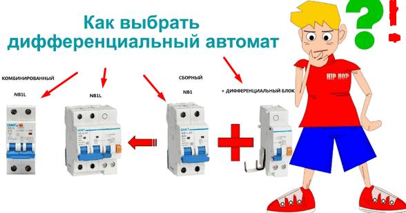 выбор дифференциального автомата по мощности