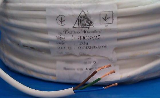 кабель ПВС в упоковке