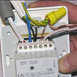 монтаж теплого пола к терморегулятору