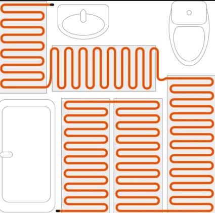 нагреватель кабель укладка в ванной