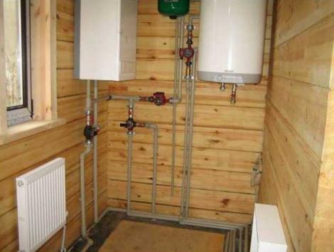 Бойлер для отопления деревянного дома