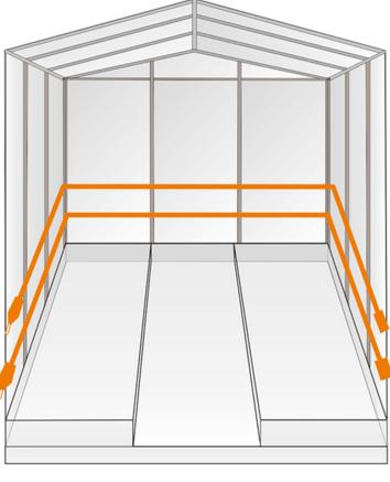 Вертикальный монтаж греющего кабеля