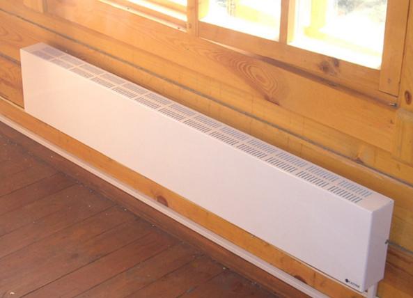Водяные конвекторы в деревянном доме