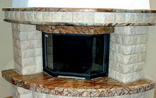 Декоративная отделка ниши для камина