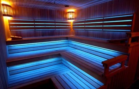 Оптоволоконные светильники для бани и сауны