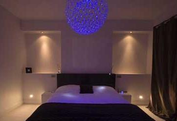 Освещение для спальни над кроватью виды