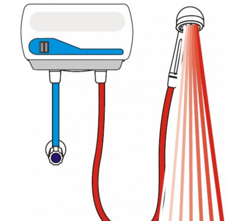 Подключение проточного водонагревателя со шлангом душа