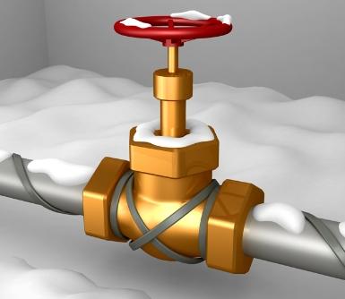 Подогрев винтеля водопровода
