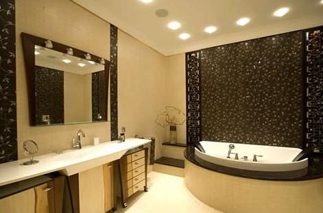 Потолочная подсветка в ванной