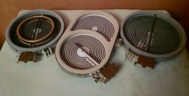 Различные конструкции термоэлектрических конфорок