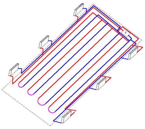 Схема водяного теплого пола с конвекторами