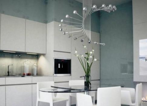 модные светильники на кухню