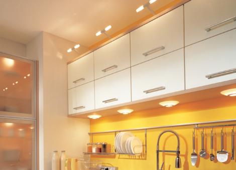 светильники на кухню к шкафам