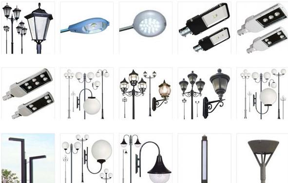 типы ламп для уличного освещения