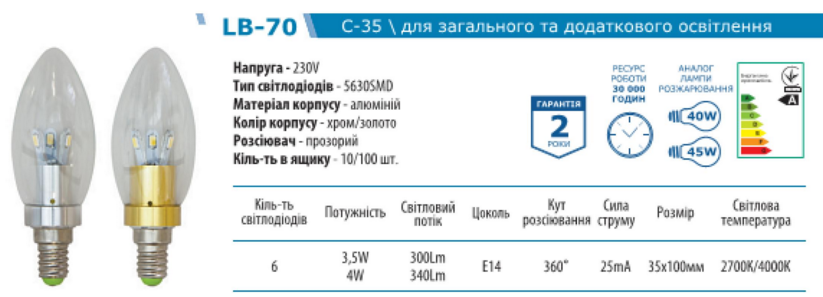FERON LB-70 характерист