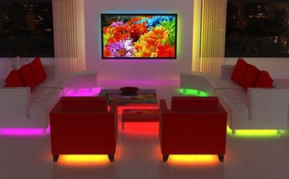 Декоративный свет в гостиной