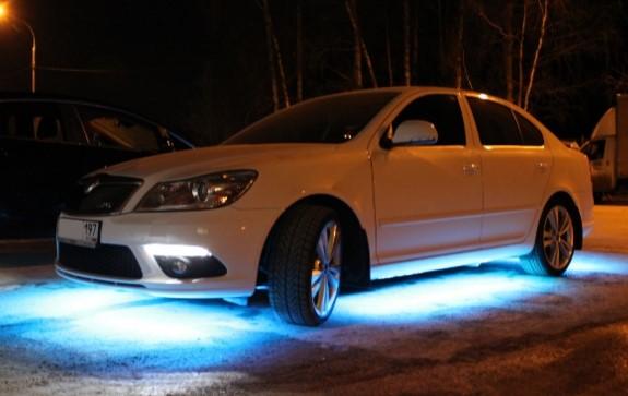 Как подключить светодиодную ленту в автомобиле особенности