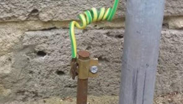 Контур заземления с помощью круглого электрода
