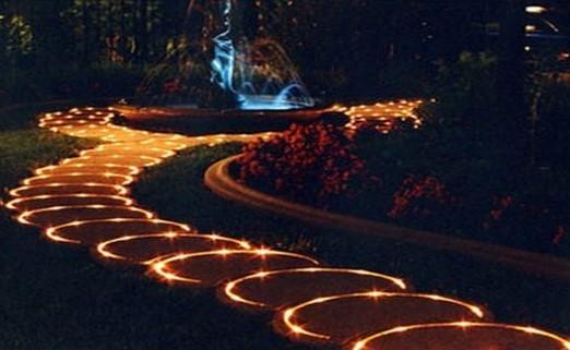 Маркировочное освещение дорожек в саду