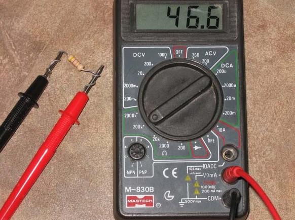 Мультимер в режиме омметра