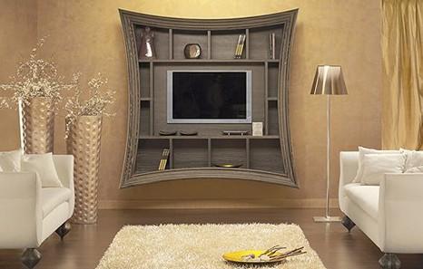Оригинальный дизайн телевизора на стене
