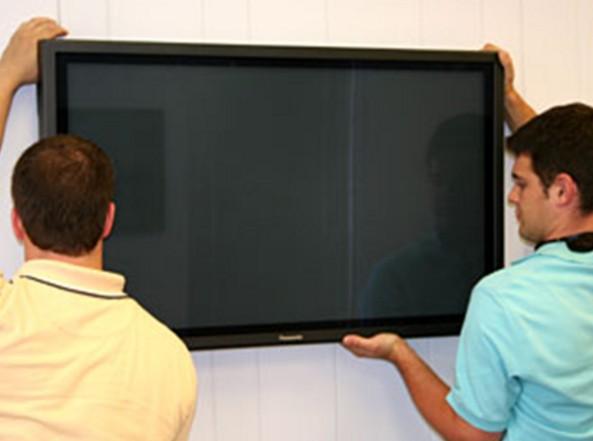 Подвешивание телевизора на стену
