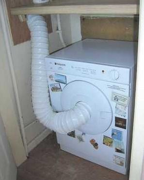 Подключение воздуховода к сушильной машине