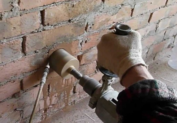 Сверление коронкой по бетону
