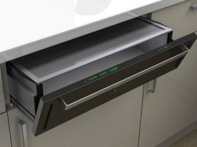Скрытое размещение микроволновки в шкафу